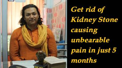 Get rid of Kidney Stone causing unbearable pain in just 5 months